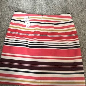 Loft Multi Colored Striped Shift Skirt, 4P